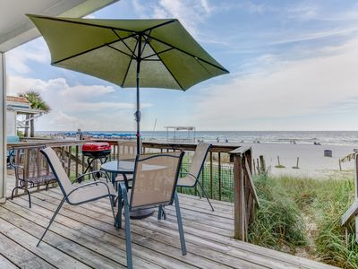 Photo for Gulf Front Townhouse 2BR/BA, Pet Friendly, Wi-Fi 4 Units Avail