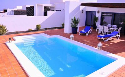 Photo for Villa NIKKA in Playa Blanca for 6 persons with pool, terrace, WIFI on the go and less than 2000m to the sea