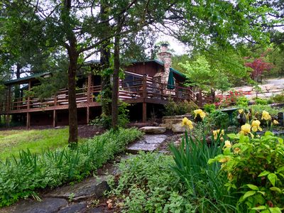 Photo for Secluded Lake Front Cabin! 2Slip Dock, Large Deck, Grill, WiFi! Perfect Hideaway