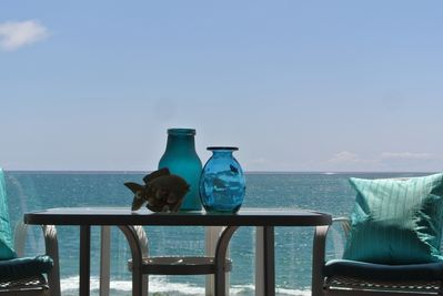 Stunning Ocean views on the patio from the Master bdr, dinning and living rooms