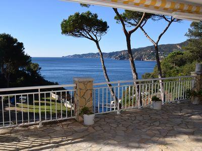 Photo for APARTMENT WITH SEA VIEW, BIG TERRACE, SHARED POOL AND GARDEN, PARKING