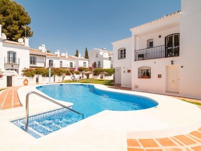 Photo for 2 bedroom Villa, sleeps 4 with Pool, Air Con, WiFi and Walk to Beach & Shops