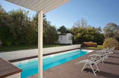 Photo for Cottage on park-like grounds with heated swimming pool
