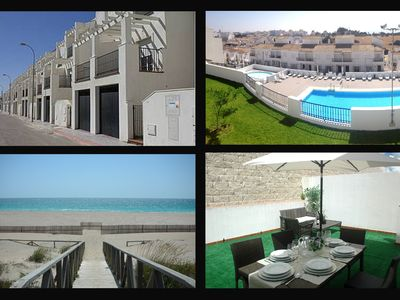 Photo for Exclusive beach villa with pool, garage, patio, terraces and solarium -Vejer