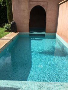 Photo for Superb detached architect villa in beautiful estate with heated pool