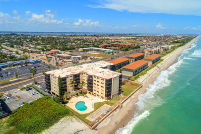 Aerial view of Sandpiper Towers.