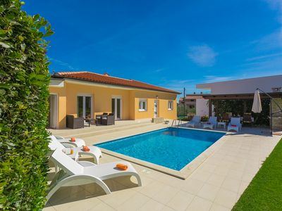 Photo for Beautiful **** villa with heated pool, summer kitchen, WiFi, grill, fitness, 1.5 km from the sea