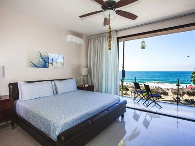 Photo for Beachfront right on Los Muertos beach