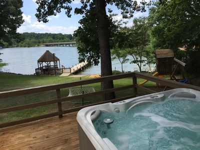 Photo for 5BR - 225ft Waterfront W/ Dock, Hot Tub & Pvt. Boat Ramp! 2019 Kitchen Remodel!!