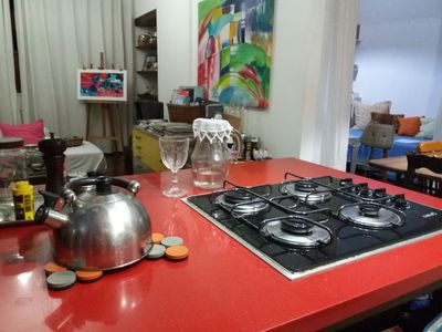 Photo for Artist two bedroom apartment very near the metro, in the heart of Copacabana!!
