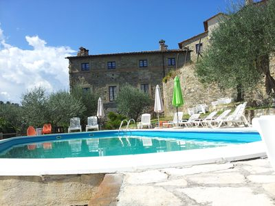 Photo for APARTMENT: THREE inside an ancient CASTLE WITH POOL OVERVIEW