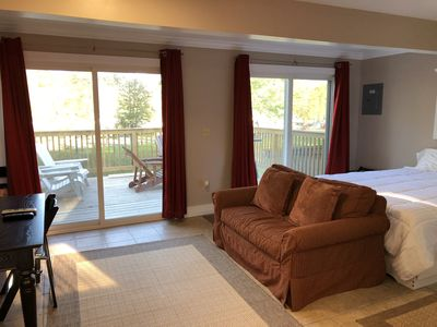 Photo for The Cabana, a Studio apt. w/ private deck on Lake Dunmore w/ beach.