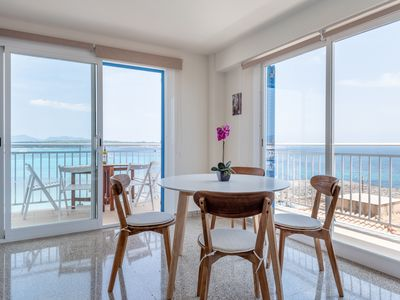 Photo for Apartment by the beach with sea views- ROCAMAR APT.