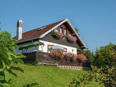 Photo for Detached holiday home in Thuringia on large property with stunning view