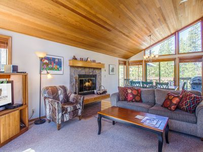 Photo for Light and Bright, Bikes, A/C, Large Deck, Quiet Sunriver Setting - TOKA32