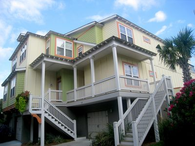 Photo for Luxurious, Pet Friendly Folly Beach Townhome: GOLF CART & Gameroom included!