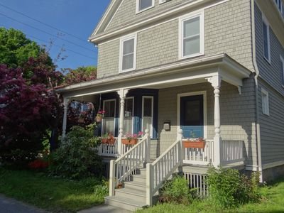 Welcoming you to Spindrift Cottage, on a quiet sidestreet in downtown Bar Harbor