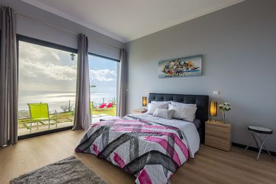 bedroom with amazing views