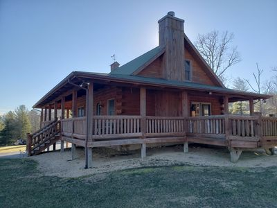 Photo for Lakeside Log Home on Picturesque Private Farm