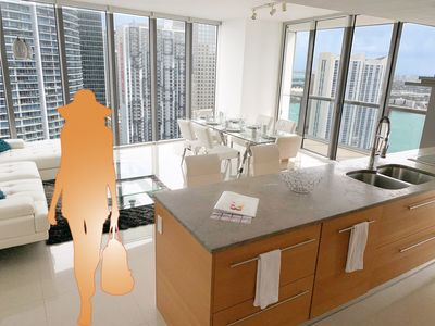 Photo for Stunning Ocean Views on High-Rise Icon Brickell