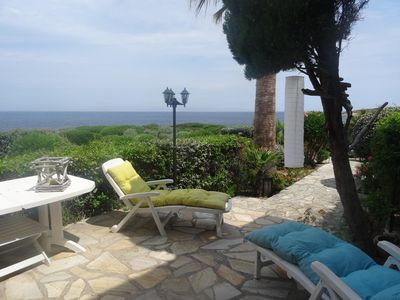 Photo for LUMIO St AMBROGIO 3 rooms with terrace at 30 meters from the sea. Near CALVI.