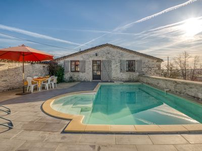 Photo for Charming Holiday Home with swimming pool and garden in Montpezat-de-Quercy.