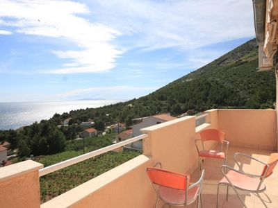 Photo for One bedroom apartment with balcony and sea view Ivan Dolac (Hvar)