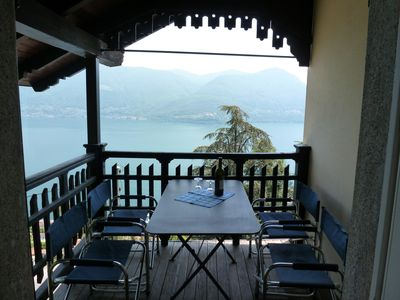 Photo for Chalet with stunning views of Lake Maggiore