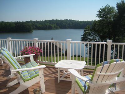 Photo for Absolute Bliss!! Gorgeous lake resort home on most coveted spot on Lake Anna!