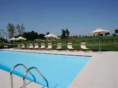 Photo for 3 bedroom Apartment, sleeps 8 with Pool, Air Con and FREE WiFi