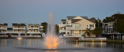 Photo for Stilted - 2 story Beach House located on Lake 4 BR/3BR, golf cart, pet friendly
