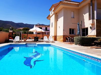 Photo for Cosy villa with sea and mountain views. Private pool, BBQ, WiFi