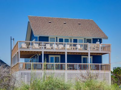 Photo for Sept. Weeks Lowered! Avon Oceanfront 6 bed, 4 bath w/ private pool & hot tub