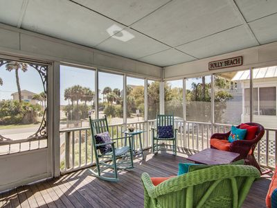 Photo for Classic beach cottage with porch & ocean views - next to downtown!