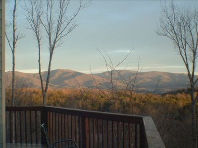 Winter Sunrise From the deck, looking into Blue Ridge Wilderness Area