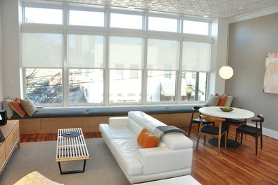 The Sinclair's open clean floor plan with an abundance of natural light.