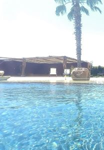 Quite beautiful pool. VACUM AND BLOWER SERVICE 3 Times a Week !!!!!
