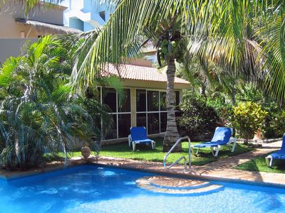 Photo for FREE TRANS for MAR-APR!! Spacious Updated Poolside Villa, 30 steps to the BEACH