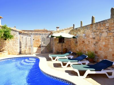 Photo for Typical, historic, mallorcan village house with private pool & terrace