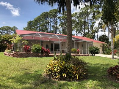 Photo for Quite/rural 3 bedroom 2.5 bathroom home with pool & lanai, fenced with gates