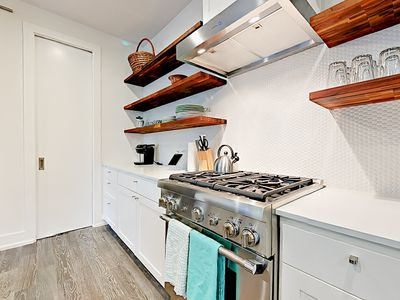 Kitchen - The kitchen includes a full suite of stainless steel appliances