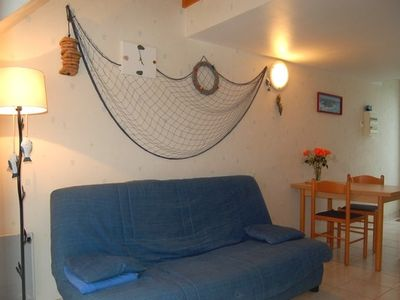 Photo for Small cottage with sea view 600 meters from the beach, garden, Morbihan