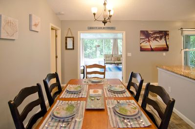 dining room looking out to patio