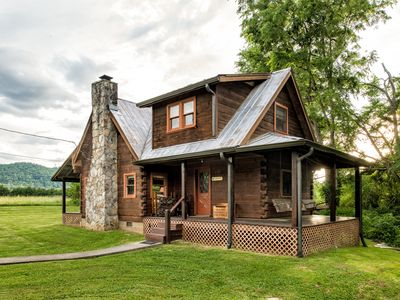 Photo for Rippling Waters Retreat | Riverfront Rustic Cabin in Townsend, TN