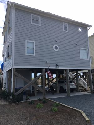 street side of beach house - from north side