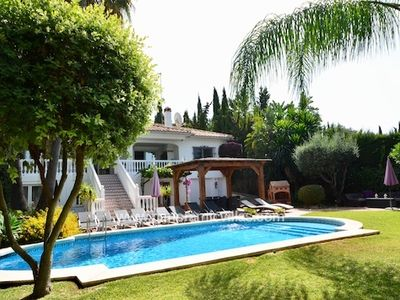 Photo for 6 bedroom Villa, sleeps 12 in Mijas with Pool, Air Con and WiFi