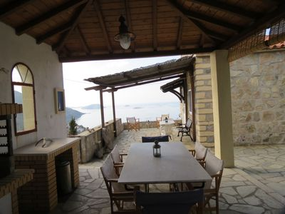 Photo for Stone-built villa surrounded by jasmine, bougainvillea, rose, breath-taking view