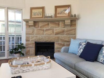 Photo for New - Overlooking  beach - open fireplace - whale watching - The Beach House