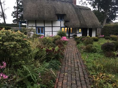 Photo for 400 year old Listed Thatched English Cottage