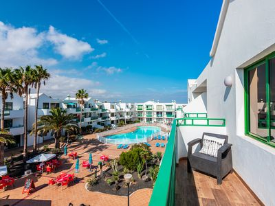 Photo for Namana beach fabulous 2nd floor apt complex w/pool by the sea in Costa Teguise